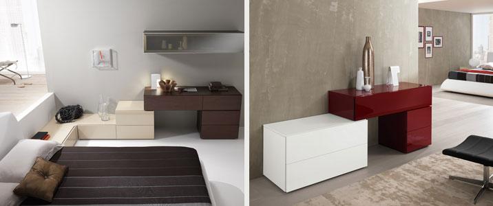 Arredo e design linea exential notte di spar infinite - Cassettiere camera da letto ...
