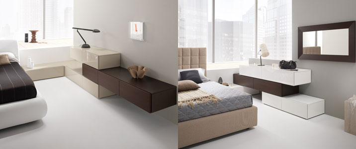 Infinite soluzioni per la camera da letto: linea Exential notte