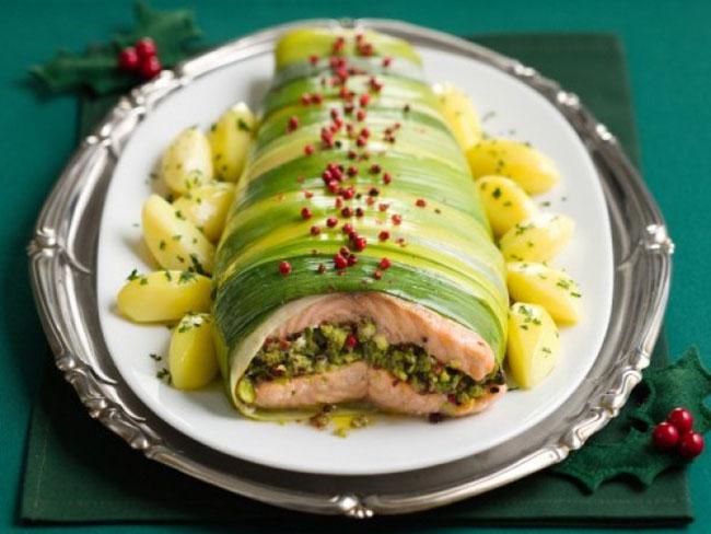 salmone pistacchi